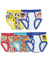 Nickelodeon Handcraft Little Boys' Paw Patrol Brief (Pack of 5), Assorted, 8
