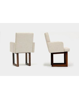 ARTLESS C2 Upholstered Dining Chair A-C2A-W-5- Upholstery Color: Creme