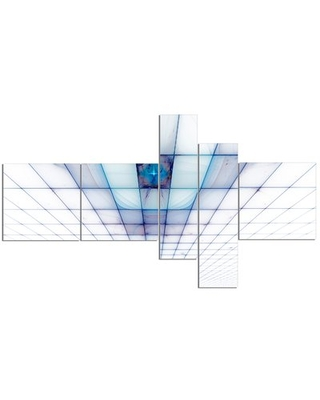 'Light Blue Laser Protective Grids' Graphic Art Print Multi-Piece Image on Canvas East Urban Home