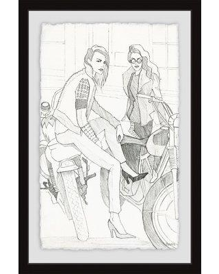 "Wrought Studio 'Bike and Heels' Framed Print W000623333 Size: 24"" H x 16"" W x 1.5"" D"