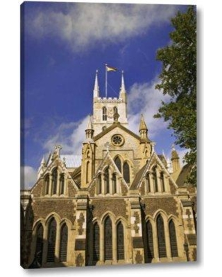 """Winston Porter 'Great Britain London the Southwark Cathedral' Photographic Print on Wrapped Canvas BF153122 Size: 24"""" H x 16"""" W x 1.5"""" D"""