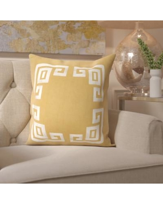 "Mercer41 Richelle 100% Linen Throw Pillow Cover MRCR4346 Size: 22"" H x 22"" W x 1"" D Color: Brown\Neutral"