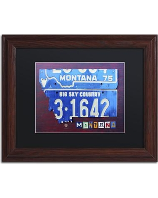 "Latitude Run Montana Framed Graphic Art on Canvas LTRN1692 Size: 11"" H x 14"" W x 0.5"" D"