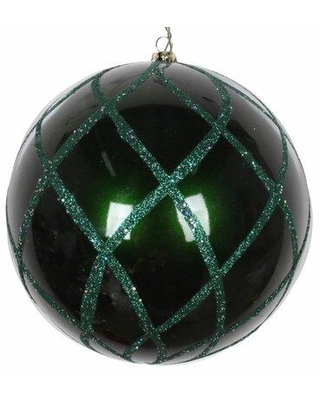The Holiday Aisle Net Ball Ornament X111704998 Color: Emerald