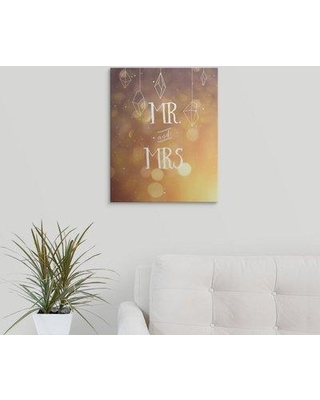 """Great Big Canvas 'Mr. and Mrs.' Graphic Art Print 2396037_1 Format: Canvas Size: 20"""" H x 16"""" W x 1.5"""" D"""