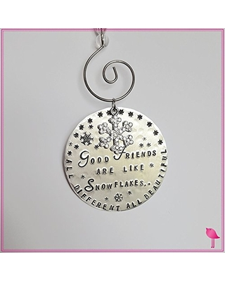 Friends Are Like Snowflakes Personalized Christmas Ornament
