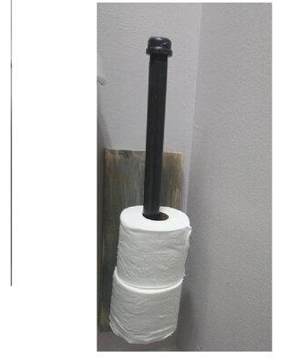 Rustic&PipeDecor Spare Wall Mount Toilet Paper Holder SWTPH Finish: Chestnut
