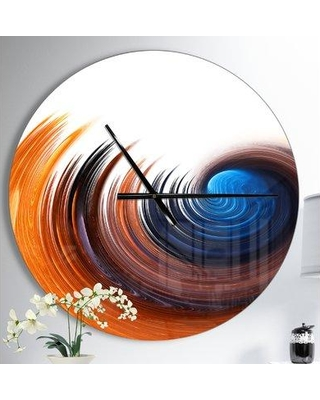 Great Prices For East Urban Home Elegant Spiral Wall Clock Metal In Brown Blue Orange Size Medium Wayfair 6e9766d767ed4a92a7ffa4eff1b7628d