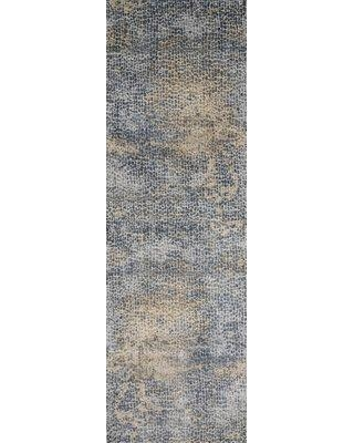 "Williston Forge Bouton Ocean/Gold Area Rug BI003261 Rug Size: Runner 2'7"" x 12'"