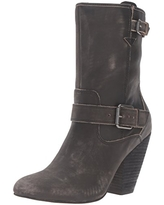 Corso Como Women's Somers Motorcycle Boot, Black Worn Leather, 9 M US