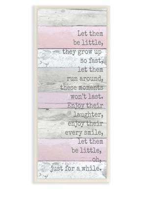 The Kids Room by Stupell Kids Inspirational Pink Nursery Word Design Wall Plaque Art by Anna Quach