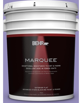BEHR MARQUEE 5 gal. #PPU16-05 Lily of the Nile Flat Exterior Paint and Primer in One