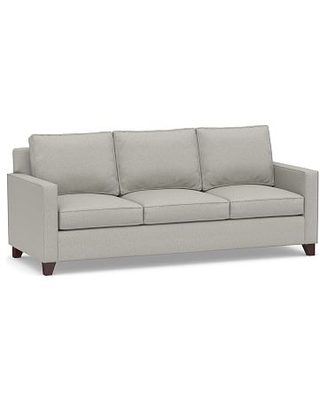 Cameron Square Arm Upholstered Side Sleeper Sofa, Polyester Wrapped Cushions, Performance Boucle Pebble
