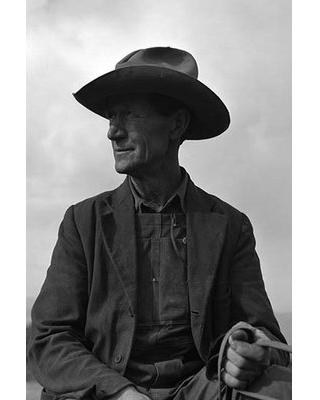 """Buyenlarge 'Portrait of a Farmer' by Dorothea Lange Photographic Print 0-587-24162-4 Size: 42"""" H x 28"""" W x 1.5""""D"""