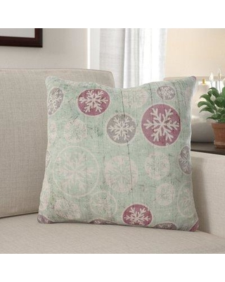 The Holiday Aisle Wheeling Background Indoor/Outdoor Canvas Throw Pillow W000487743