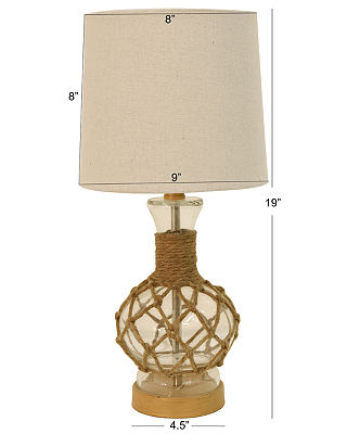 Decor Therapy Glass Table Lamp, One Size , Brown
