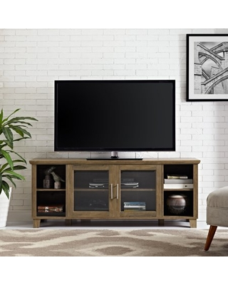 Manor Park Columbus Transitional 58 Inch TV Stand, Rustic Oak