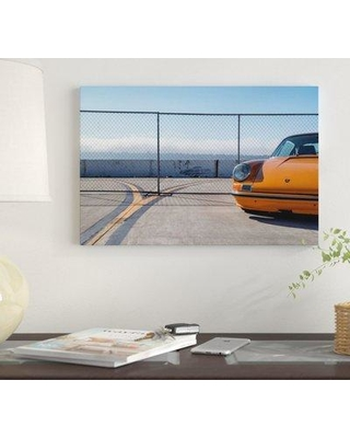 "East Urban Home 'Airfield Porsche' by Jens Ochlich Graphic Art Print on Wrapped Canvas EUME4467 Size: 40"" x 60"" x 1.5"""