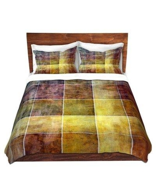 East Urban Home Lava Shades Duvet Cover Set W000569040 Size: 1 Queen Duvet Cover + 2 Standard Shams Color: Yellow/Brown