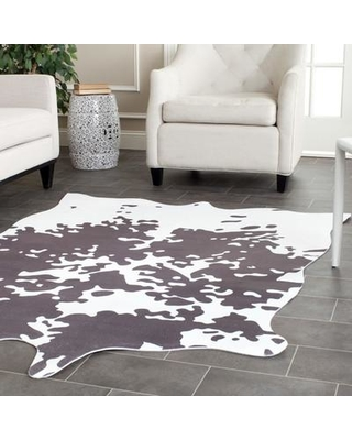 """Safavieh Faux Hide Hand-Tufted Gray/White Area Rug FAH160C-5 Rug Size: 5' x 6'6"""""""