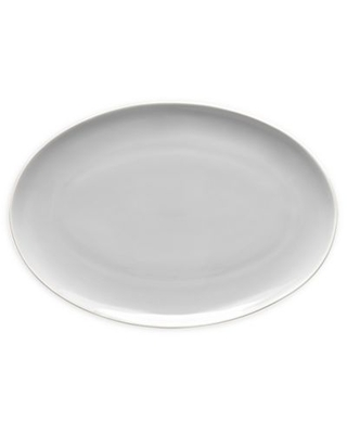"""Noritake Colortrio Coupe 16"""" Oval Platter In Sand"""