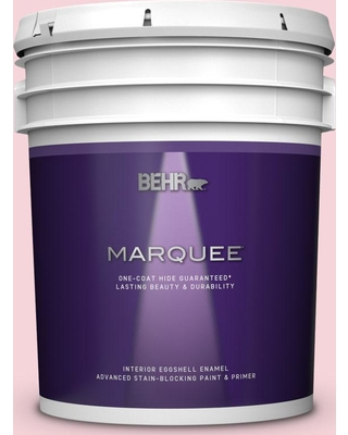 BEHR MARQUEE 5 gal. #120A-3 Lovelight Eggshell Enamel Interior Paint and Primer in One