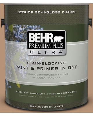 BEHR ULTRA 1 gal. #T13-7 Tan-gent Semi-Gloss Enamel Interior Paint and Primer in One