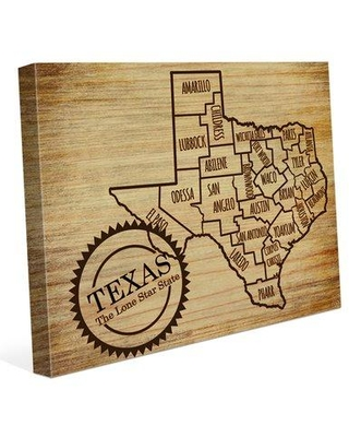 """Click Wall Art 'The Lone Star State' Graphic Art on Wrapped Canvas HTW0000200CAN Size: 24"""" H x 36"""" W x 1.5"""" D"""