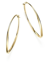 14K Yellow Gold Twisted Oval Hoop Earrings - 100% Exclusive
