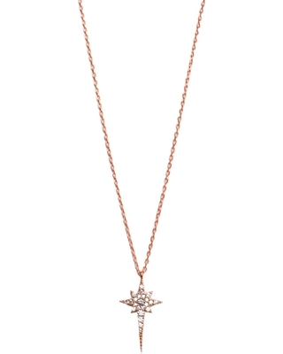 2246789abea29 Don't Miss This Deal on Wild Hearts - Ice Pick Star Necklace Rose Gold
