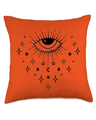 Cheeky Witch Mystic All Seeing Eye Wiccan Pagan Throw Pillow, 18x18, Multicolor