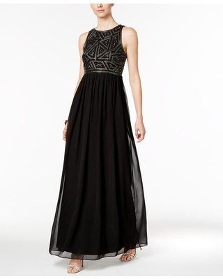Adrianna Papell - 191910790 Embellished Jewel Ruched Gown