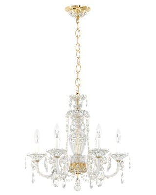 Sterling 6-Light Candle Style Classic / Traditional Chandelier with Crystal Accents