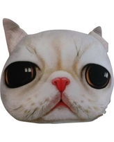 Tache Home Fashion White Persian Cute Kitty Cat Throw Pillow CATPILLOW-