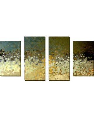 """PicturePerfectInternational """"Together in Unity"""" by Mark Lawrence 4 Piece Painting Print on Wrapped Canvas Set 704-0166 / 704-0166_LRG Size: 38"""" H x 72"""" W x 1.5"""" D"""