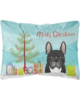 The Holiday Aisle Parque Christmas Tree and French Bulldog Fabric Indoor/Outdoor Throw Pillow BI148804