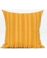 Winston Porter Elyria Tassel Stripe Textured Cotton Pillow WNSP6599 Fill Material: Down Feather, Product Type: Throw Pillow