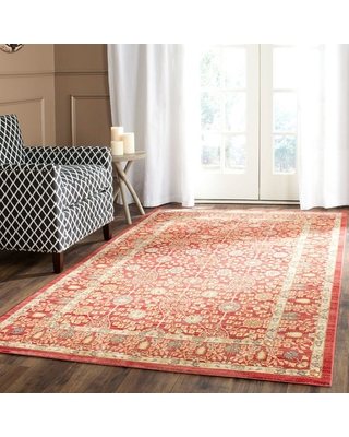 Safavieh Valencia Red 4 ft. x 6 ft. Area Rug