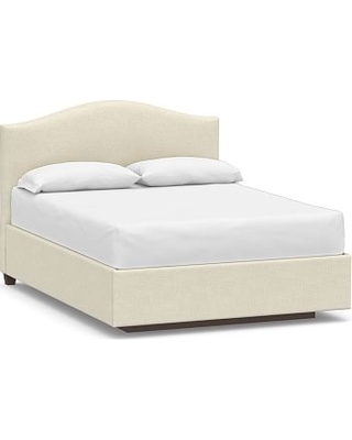 Raleigh Upholstered Curved Low Headboard With Footboard Storage Platform Bed Without Nailheads California King