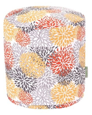 Majestic Home Goods™ Blooms Ottoman Pouf in Citrus