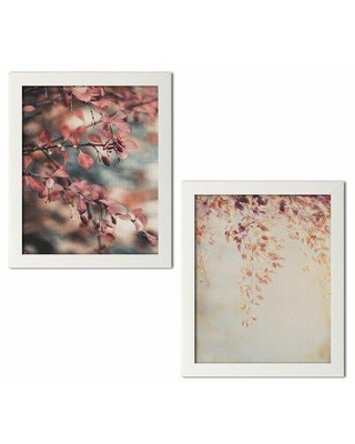 """Winston Porter 'Fall I and II' 2 Piece Graphic Art Print Set CG228405 Format: White Framed Paper Size: 18"""" H x 12"""" W x 0.75"""" D"""