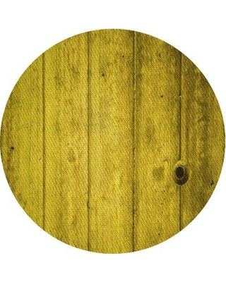East Urban Home Abstract Wool Yellow Area Rug X113646339 Rug Size: Round 4'