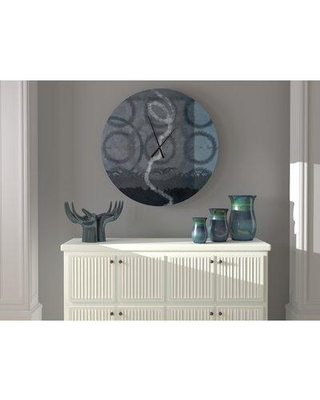 East Urban Home Oversized Bradly Wall Clock X112689596 Size: Small