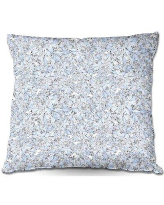 New Deals On Ebern Designs Reynosa Couch Flowers I Throw Pillow Polyester Polyfill Polyester Polyester Blend In Blue Size 20 X 20 Wayfair