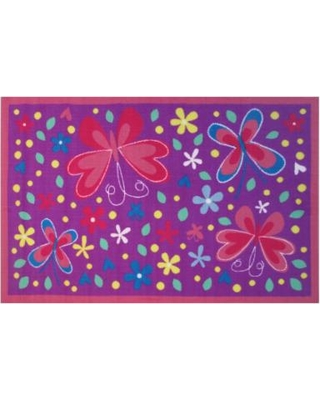 Fun Rugs Fun Time Butterfly Valley Rug - 3'3'' x 4'10'', 3X5 Ft