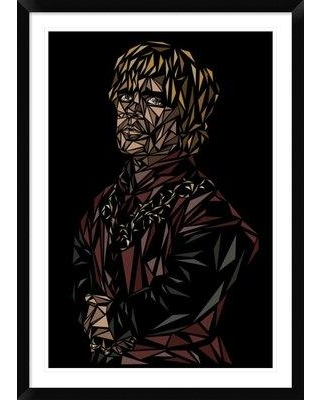 "Naxart 'Tyrion Lannister' Framed Graphic Art Print DPF-459731 Size: 42"" H x 30"" W x 1.5"" D"