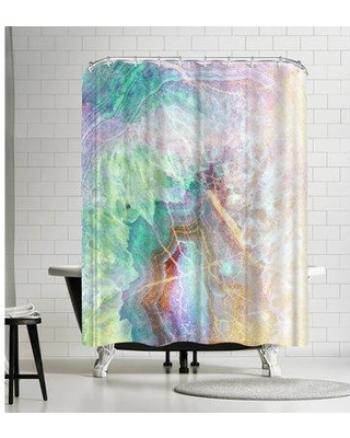 East Urban Home Ikonolexi Agate Shower Curtain EBIB8103