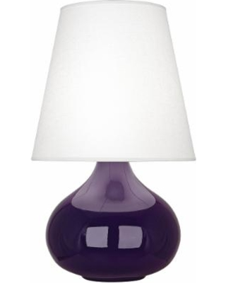 Robert Abbey June Amethyst Table Lamp w/ Oyster Linen Shade
