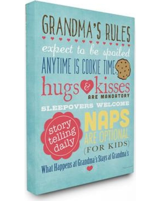 """Stupell Industries Grandma'S Rules with Icons Textual Art mwp-188_cn_0 Size: 15"""" H x 10"""" W Format: Plaque"""