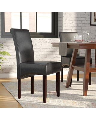 Latitude Run® Darrell Upholstered Dining Chair MBUU9092 Upholstery Color: Black